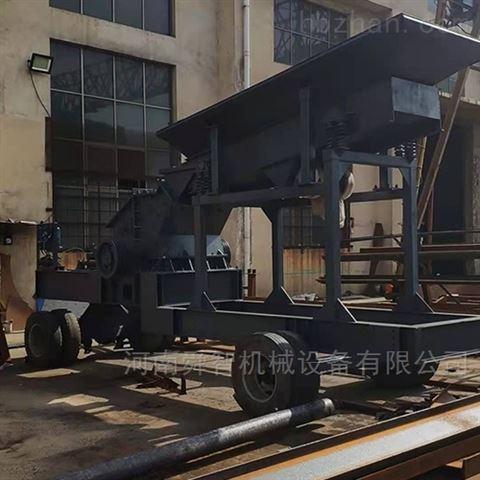 安徽移動式河卵石制砂機,合肥移動破碎站