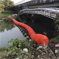 水电站进水口浮筒式拦污带安装