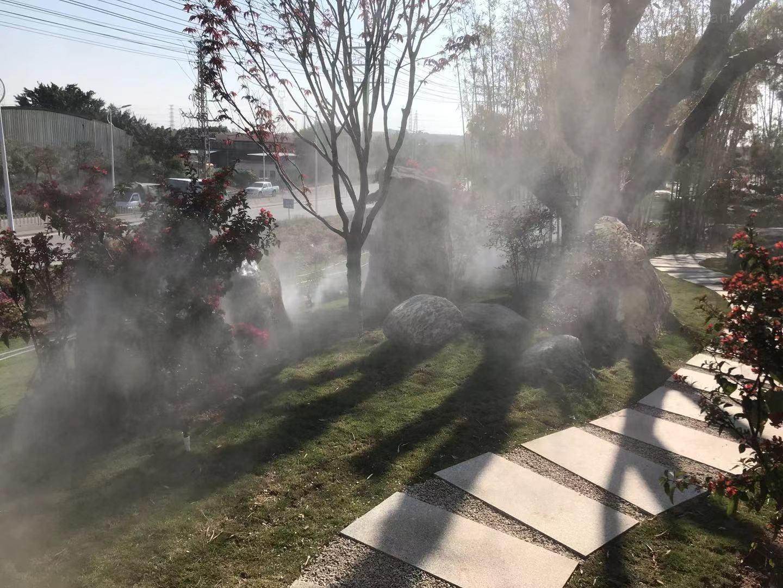 广清中大时尚科技城雾森景观造雾系统展示