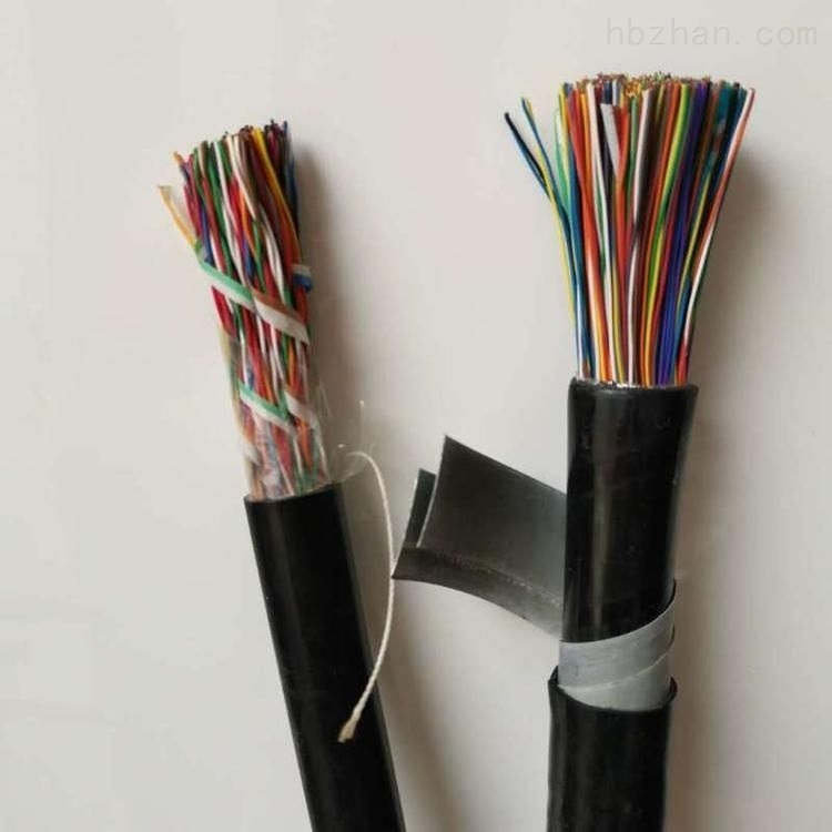 HYA铜芯实心聚烯烃绝缘挡潮层聚乙烯护套市内通信电缆