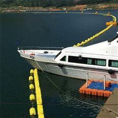 浅水区警戒浮筒拦船索安装方法
