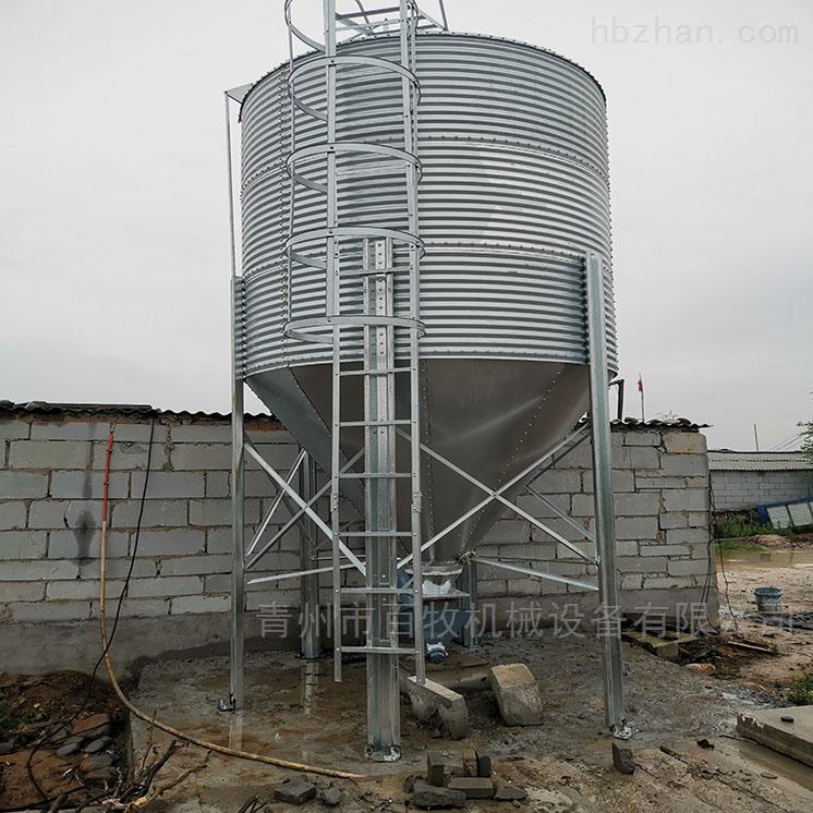 养鸭厂配套镀锌料塔-自动化料塔