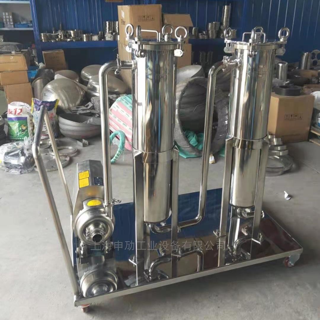 泵车多级串联袋式过滤机