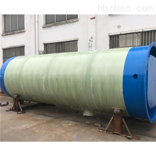 城市洪水玻璃钢防腐污水 一体化预制泵站