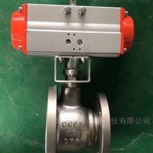 FL641F-16P气动不锈钢变径放料球阀