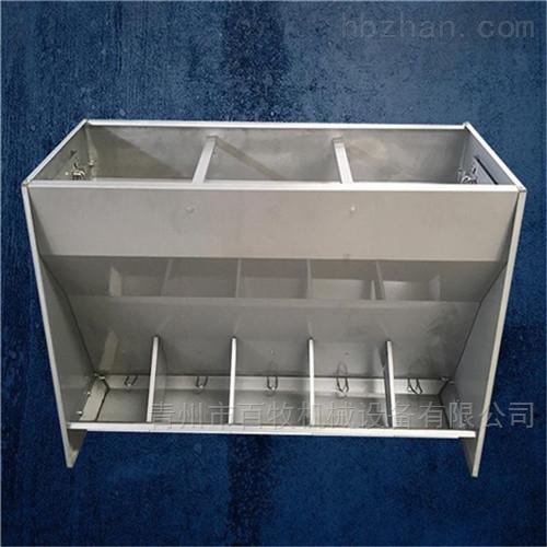 猪场不锈钢料槽-双孔料槽材质安装