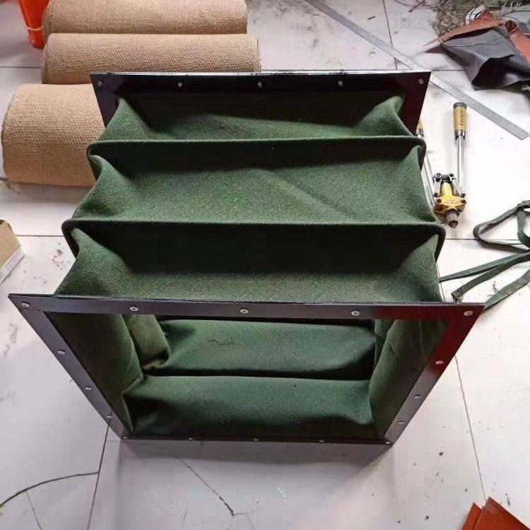 矩形帆布除尘伸缩软连接