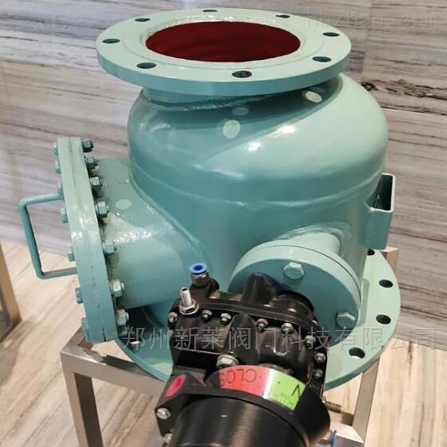 JQ641FM钟罩式翻板气动陶瓷进料阀