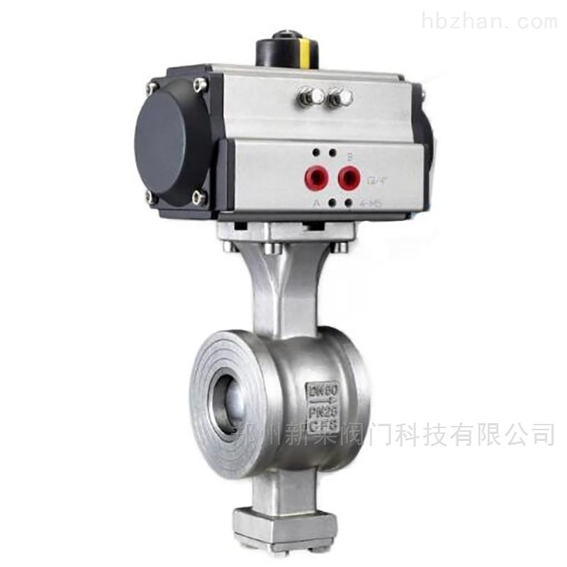 VQ677H-16P气动对夹v型球阀