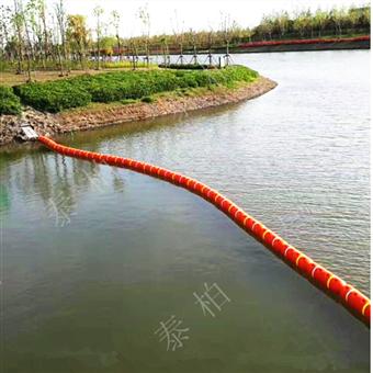 水面浮游垃圾阻拦拦截隔离塑料拦污浮筒