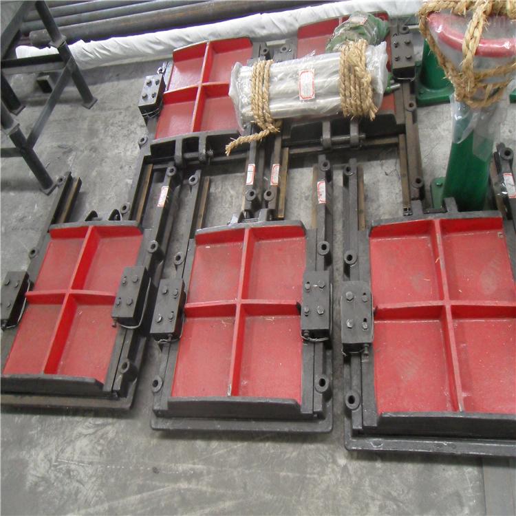 铸铁镶方圆闸门耐腐蚀不锈钢污水处理闸门