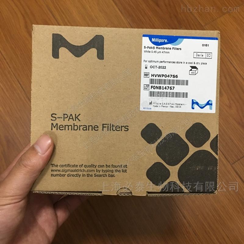 Millipore S-PAK无菌滤膜PVDF微检膜片0.45µm 47mm