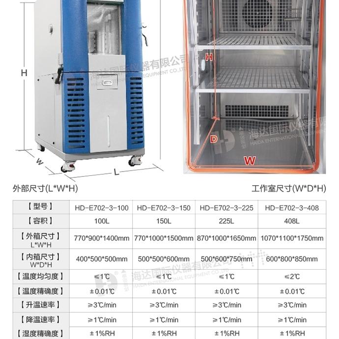 可程式恒温恒湿试验箱HD-e702