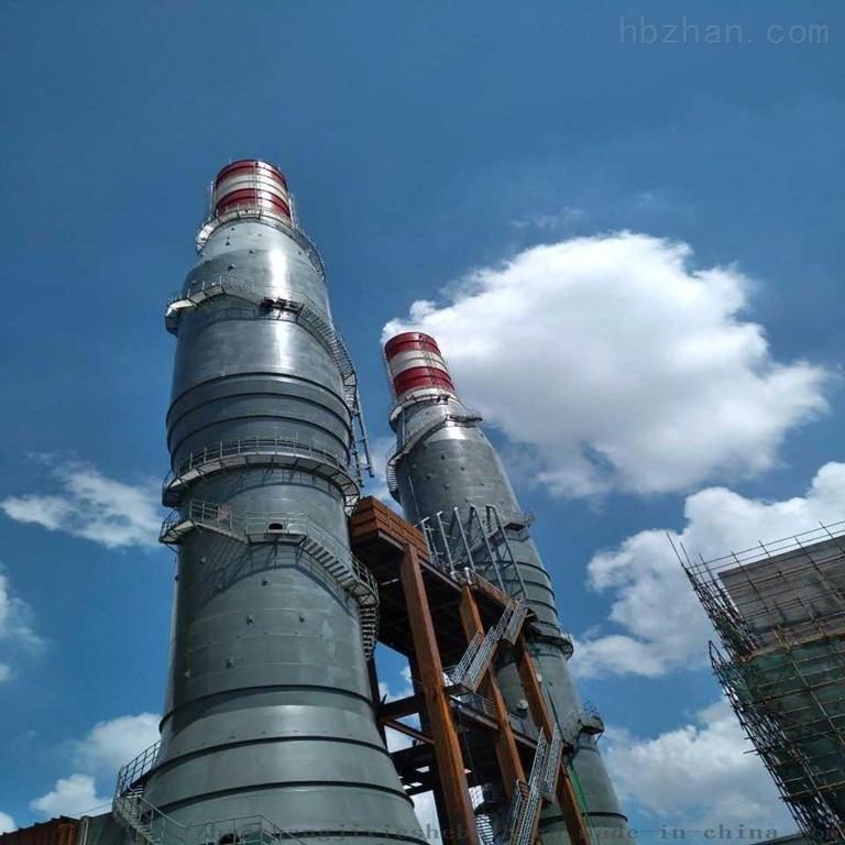 高温防腐脱硫塔废气环保设备现场安装