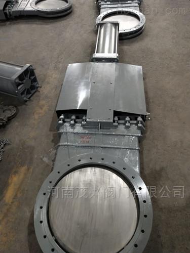 带防尘罩气动不锈钢刀型闸阀