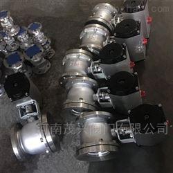 不锈钢316L气动放料球阀