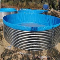镀锌板养鱼池帆布鱼池蓄水养殖桶
