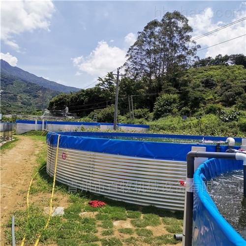 镀锌板养鱼池定制高密度水产养殖水池