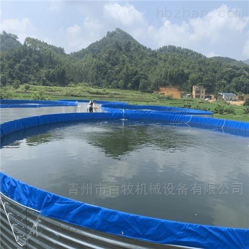 镀锌板鱼池圆形帆布蓄水池