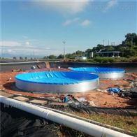 圆形鱼池养殖镀锌板鱼池
