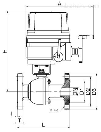 防爆电动球阀结构图