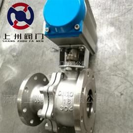 Q641W型气动放料球阀