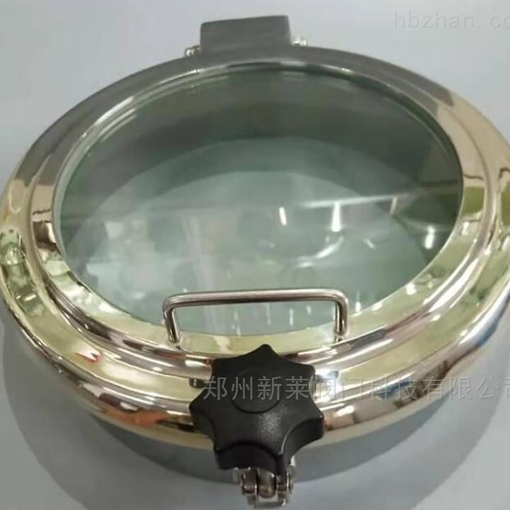 卫生级常压人孔带玻璃视镜
