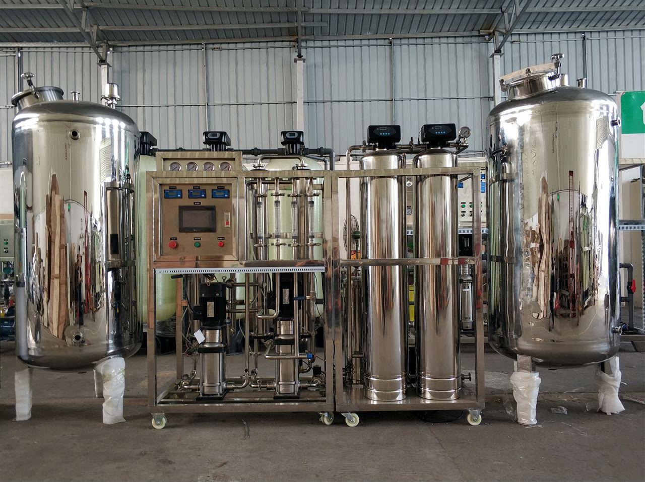 全不銹鋼二級反滲透純水設備安裝現場