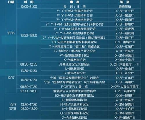 材料学术盛宴——IFAM2021倒计时 | 10月16-18日·宁波