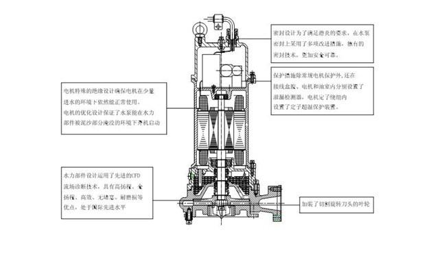 AF型双绞刀潜水排污泵安装图