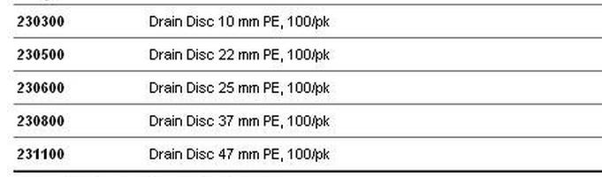 WHATMAN聚酯排水片231100(47mm直径)