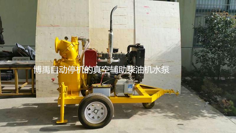 自动停机的真空辅助移动式柴油机水泵
