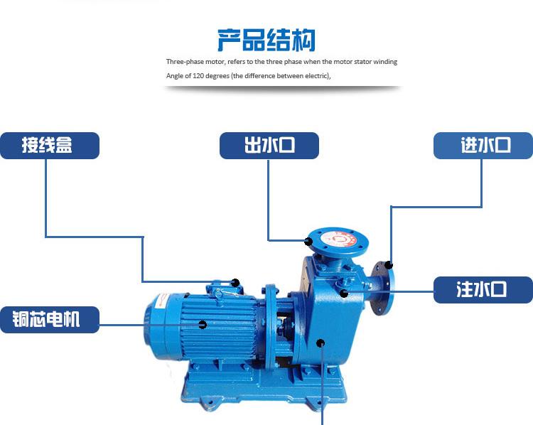 直連式自吸泵結構圖
