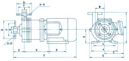 磁力泵安装尺寸