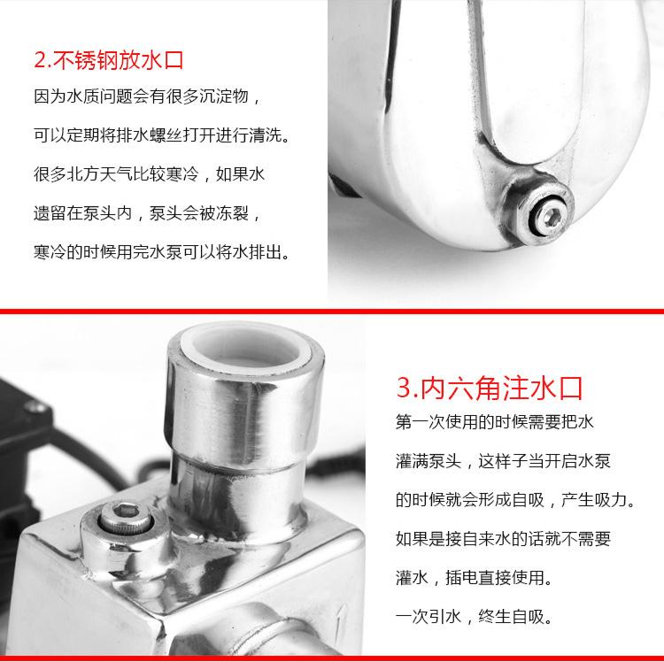 小型自吸泵优点
