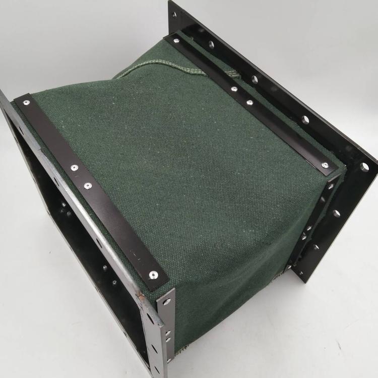 绿色帆布除尘排烟伸缩软连接