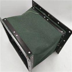 绿色帆布除尘排烟通风伸缩软管定做