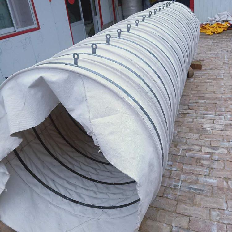 白帆布水泥散装伸缩布袋